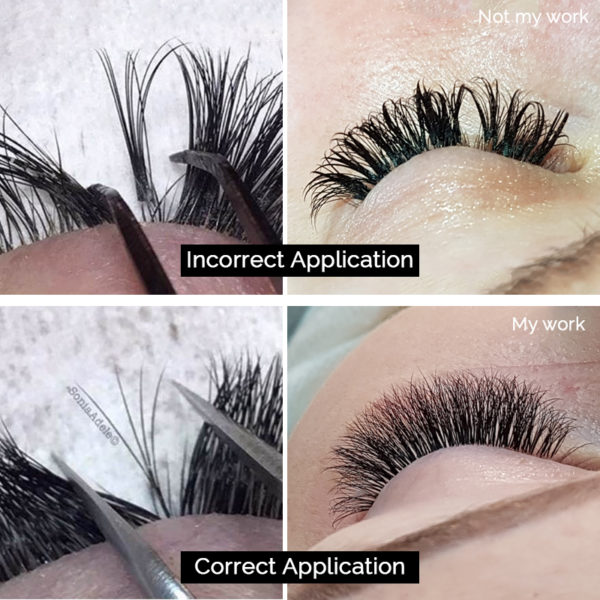 Correct Lash Application V's Incorrect Lash Application