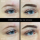 Ombre Powder brows with a few hair strokes